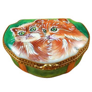 Studio Collection Two Cats Rochard Limoges Box
