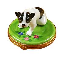Boston Terrier Rochard Limoges Box
