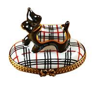 Scottish Terrier - Burberry Rochard Limoges Box
