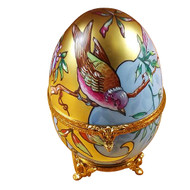 Studio Collection - Art Nouveau Egg W / Bird Rochard Limoges Box