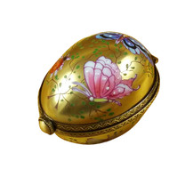 Egg Decor Butterfly On Gold Base Rochard Limoges Box