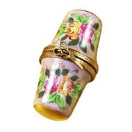 Floral Thimble Box Rochard Limoges Box