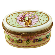 Large Oval Relief Rochard Limoges Box