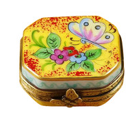 Butterfly Octagon Rochard Limoges Box