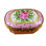 Pink Eight Sided W/ Flowers Rochard Limoges Box