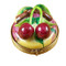 Cherries On Small Round Rochard Limoges Box