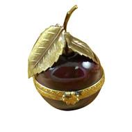 Cherry W/Brass Stem Rochard Limoges Box