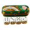 Dice Box W/Four Dice Rochard Limoges Box