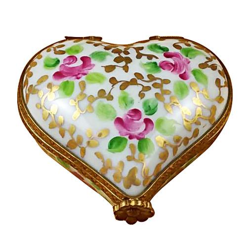 Heart Tapestry Rose Rochard Limoges Box