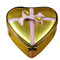 Gold Heart W/Pink Bow & Chocolates Rochard Limoges Box