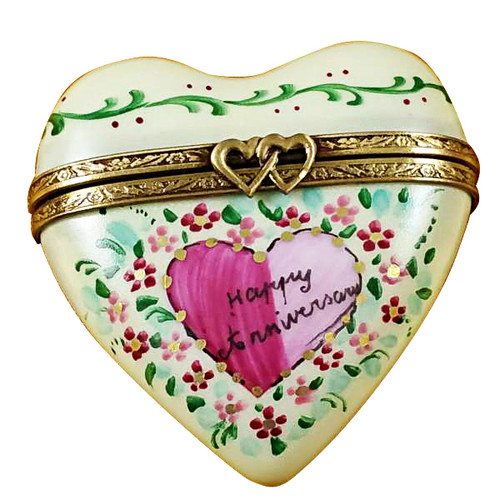 Heart - Happy Anniversary Rochard Limoges Box