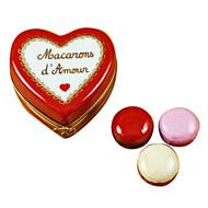 Heart With Three Macarons Rochard Limoges Box