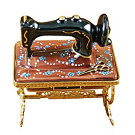 Sewing Machine W/Stand Rochard Limoges Box
