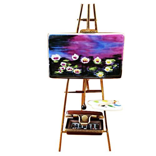 Easel Monet - Water Lilies Rochard Limoges Box