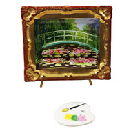 Monet'S Japanese Footbridge Inside Frame With Removable Pallete Rochard Limoges Box