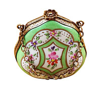 Handbag Green Floral Rochard Limoges Box