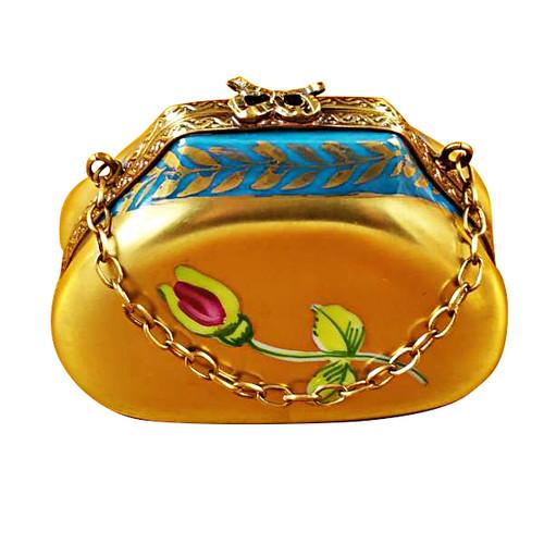 Gold Handbag Rochard Limoges Box