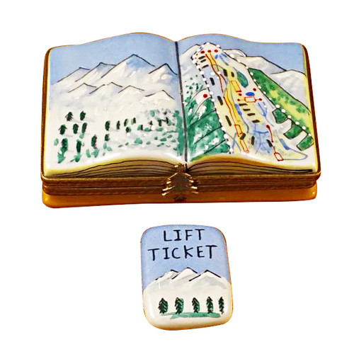 Trail Map W/Removable Lift Ticket Rochard Limoges Box