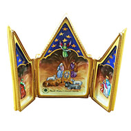Triptych - Nativity Rochard Limoges Box