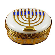 Menorah-White Rochard Limoges Box