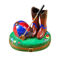 Riding Set W/Hat/Stick/Boots Rochard Limoges Box