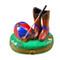 Riding Set W/Hat/Stick/Boots Rochard Limoges Box