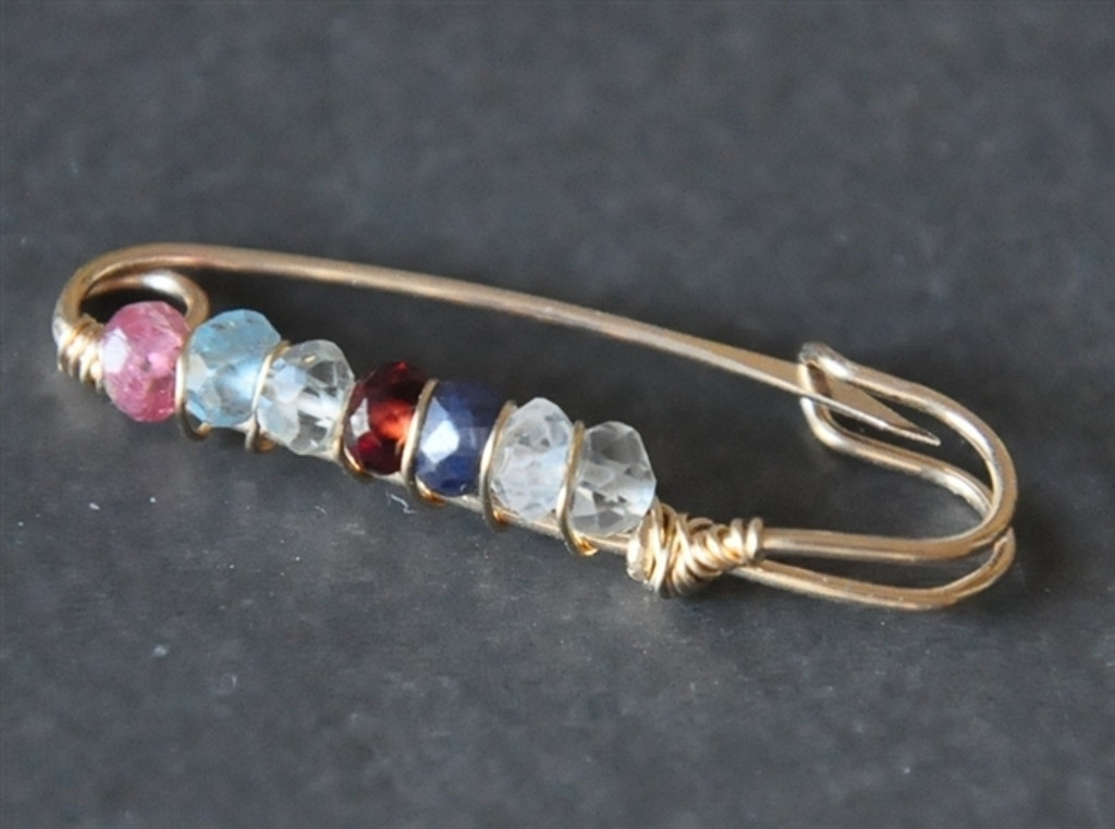 customized mother's / grandmother's birthstone brooch