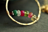 CIRCLE OF LOVE mother's birthstone necklace