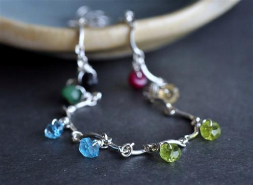 custom mother's grandmother's birthstone charm bracelet