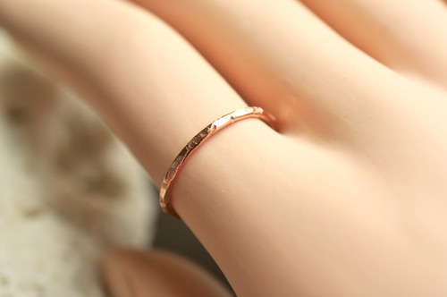 skinny 14k gold filled ring