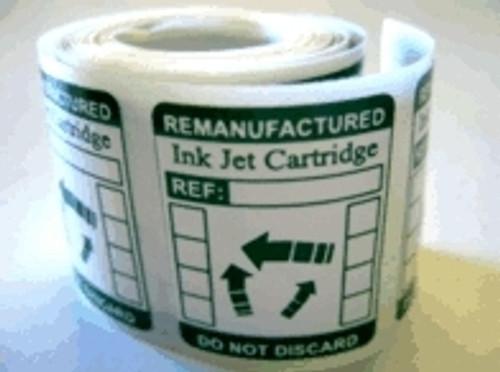 Refilled Cartridge Labels Universal
