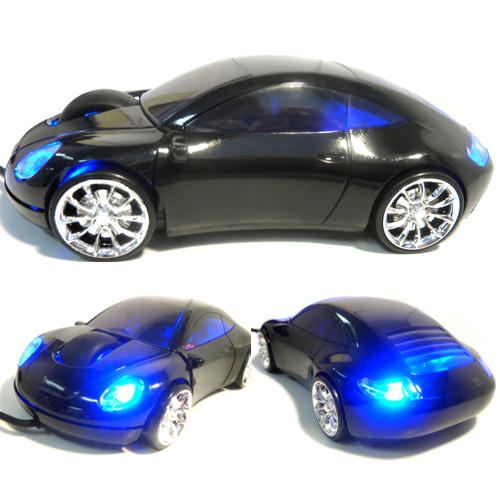 Optical Mouse USB Sports Car Porche-Style Black