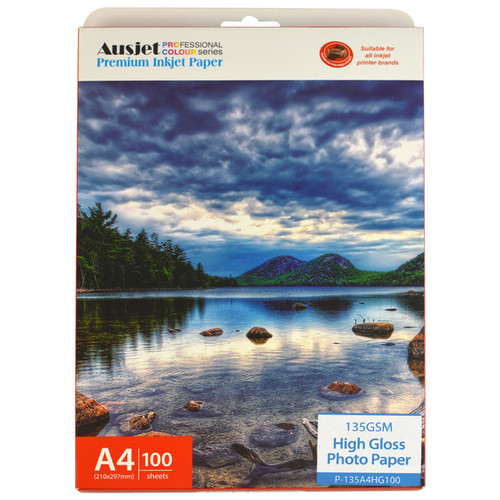 135gm A4 High Gloss Photo Paper (100 Sheets)