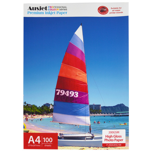 200gm A4 High Gloss Photo Paper (100 Sheets)