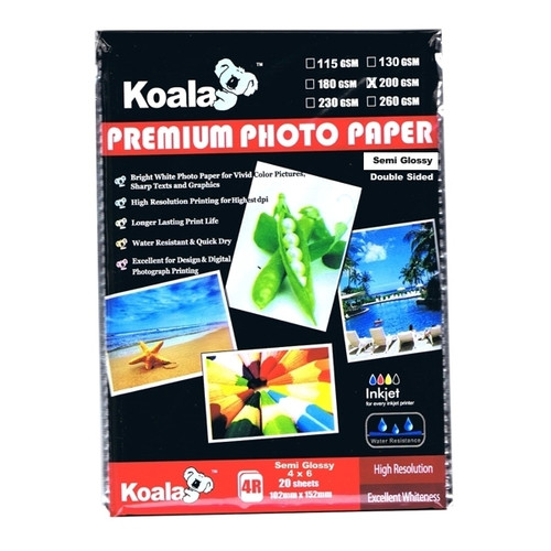200gm (4x6) DS Semi Gloss Paper (20 Sheets)