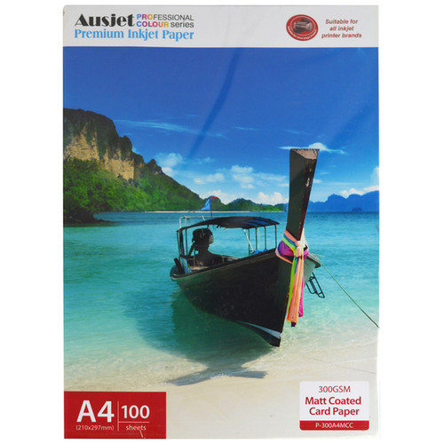 300gm A4 Matt Coated Card Paper (100 Sheets)