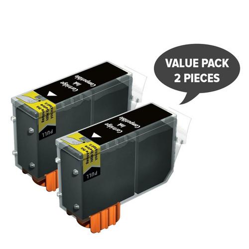 2 x PGI-520 Pigment Black Compatible Inkjet Cartridge