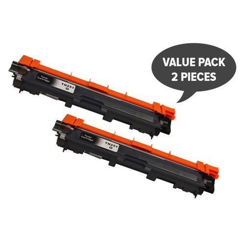 TN-251 Black Premium Generic Toner (Set of 2)