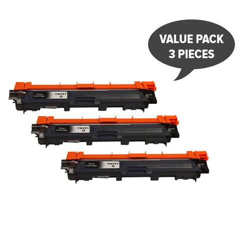 TN-251 Black Premium Generic Toner (Set of 3)
