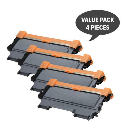 TN-2250 Black Premium Generic Cartridge (Set of 4)