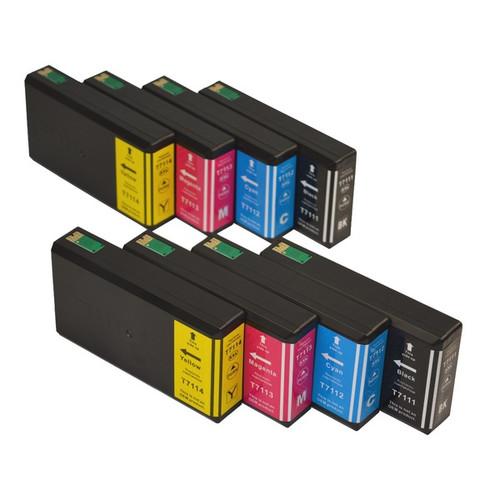 711XXL Series Compatible Inkjet Cartridge Set x 2 (8 cartridges)
