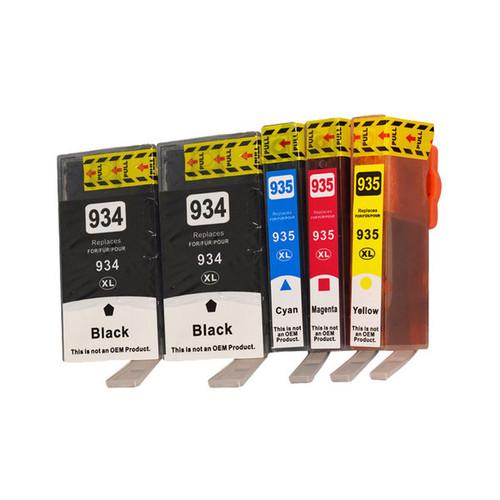 934XL Series Compatible Inkjet Cartridge Set PLUS Extra Black (5 Cartridges)