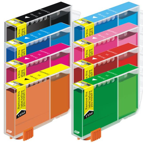 CLI-8 Compatible Inkjet Cartridge Set  8 Ink Cartridges