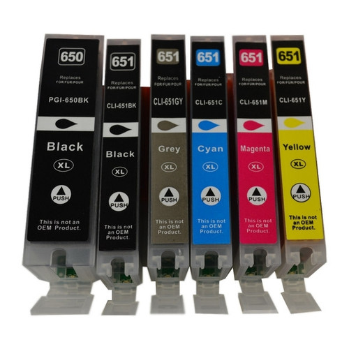 PGI-650XL CLI-651XL Compatible Inkjet  Set 6 Cartridges [Boxed Set]