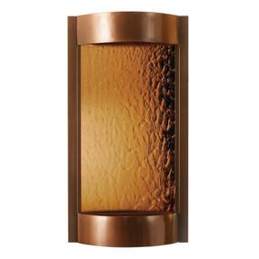 Contempo Solare Bronze Mirror and Dark Copper Wall Fountain
