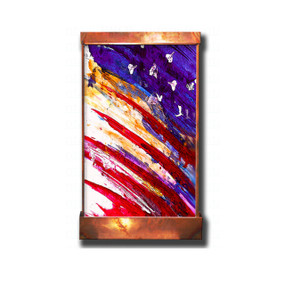 Flag Abstract Galaxy Wall Fountain