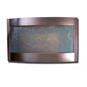 Contempo Terra Horizontal Bronze and Slate Indoor Wall Fountain