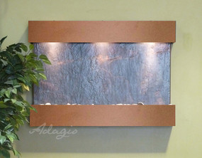 Reflection Creek - Black Featherstone with Copper Vein Trim and Square Corners