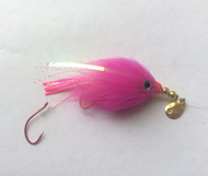 Kokanee Trolling Fly - Hot Pink - Rigged