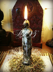 Black Figural (male or female) Candle Spell Performed for You, for Banishing, Binding, Revenge, Enemy Workings